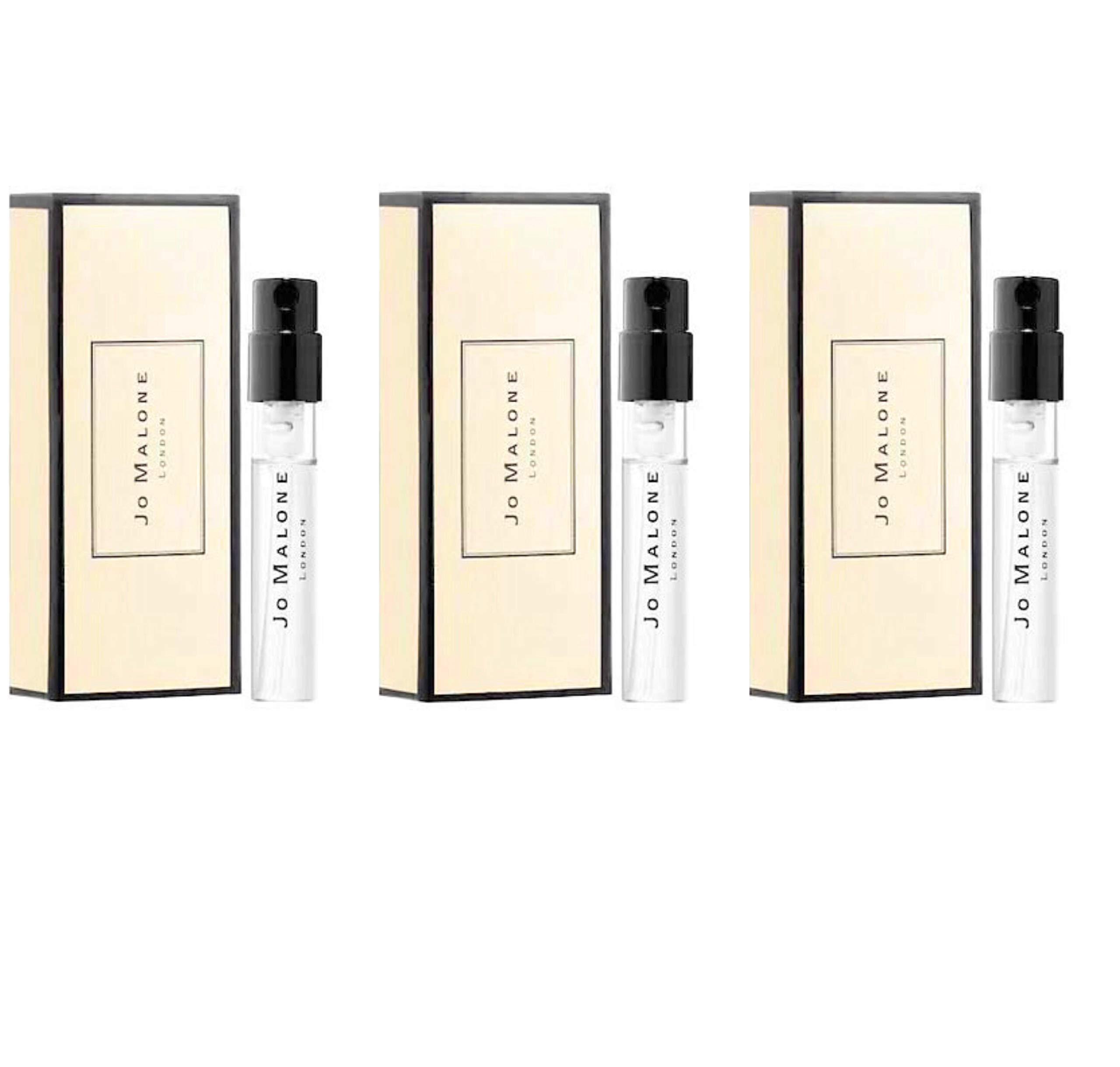 Jo Malone London Wood Sage & Sea Salt Cologne ~ Sample Set of 3 ~ 0.05 fl each/ total 0.15 fl oz