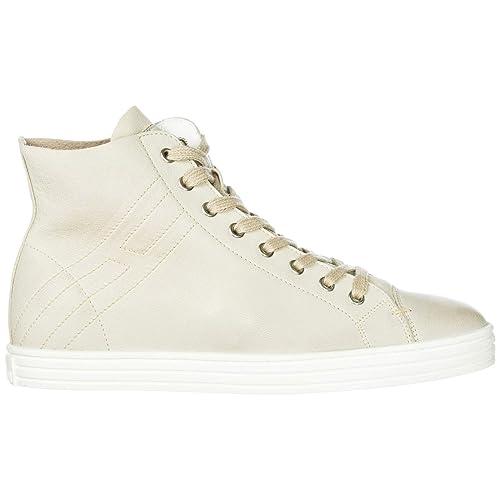 Hogan Rebel Sneakers Alte Donna Bianco Latte 41 EU  Amazon.it  Scarpe e  borse ef224d35e1c