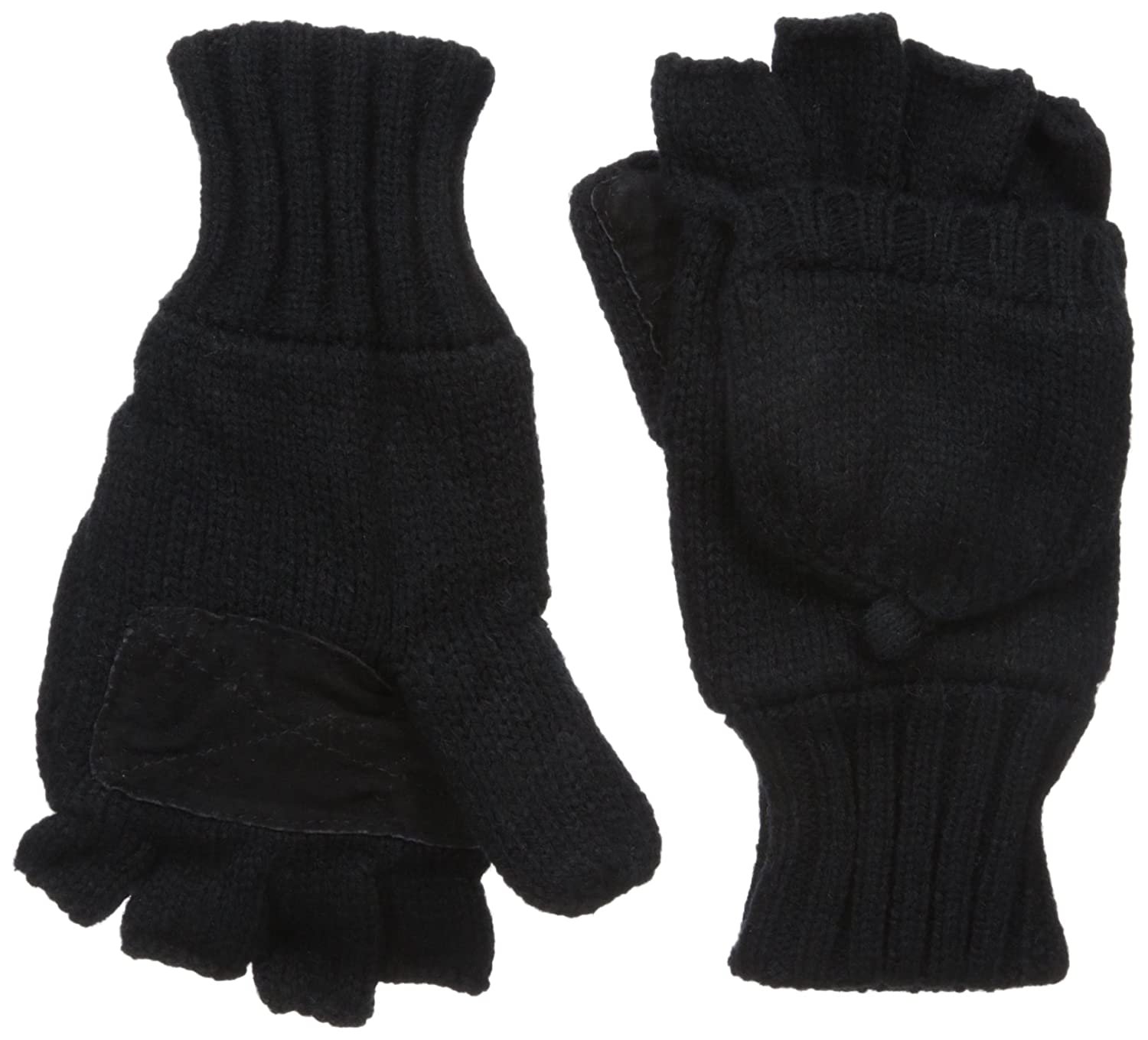 Dockers Mens Convertible Fingerless Glove with Mitten