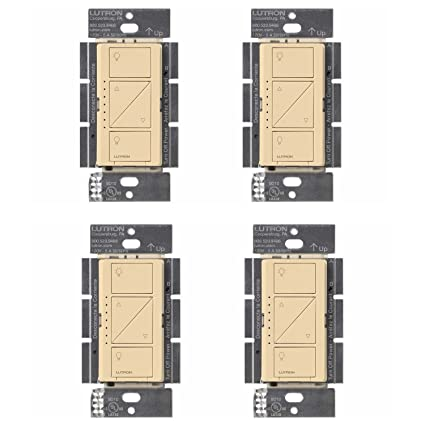 Lutron Caseta Wireless Smart Lighting Dimmer Switch for Wall & Ceiling Lights, PD-6WCL