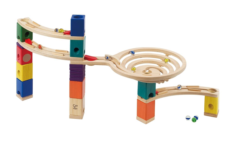 Circuit de Billes Quadrilla E6005 Hape The Roundabout Jeu De Construction en Bois