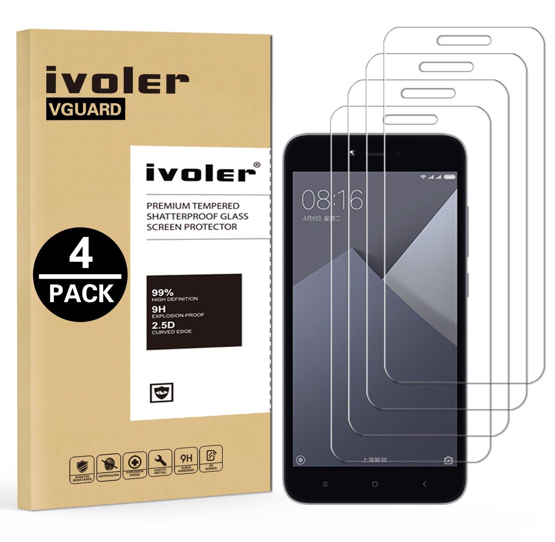 ivoler [4 Unidades] Protector de Pantalla para Xiaomi Redmi Note ...