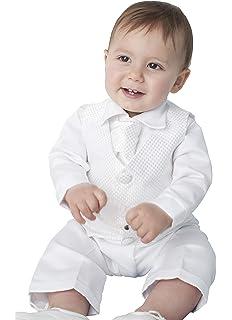 para Bautizo de Atuendo Bañador para bebé de Color Blanco: Amazon ...