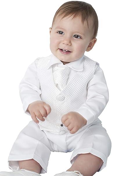 Vivaki 4 Piezas Leo para Trajes de Bautizo en Color Blanco ...