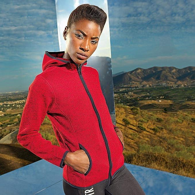 123t TriDri TR081 Womens Melange Knit Fleece Jacket Blank Plain