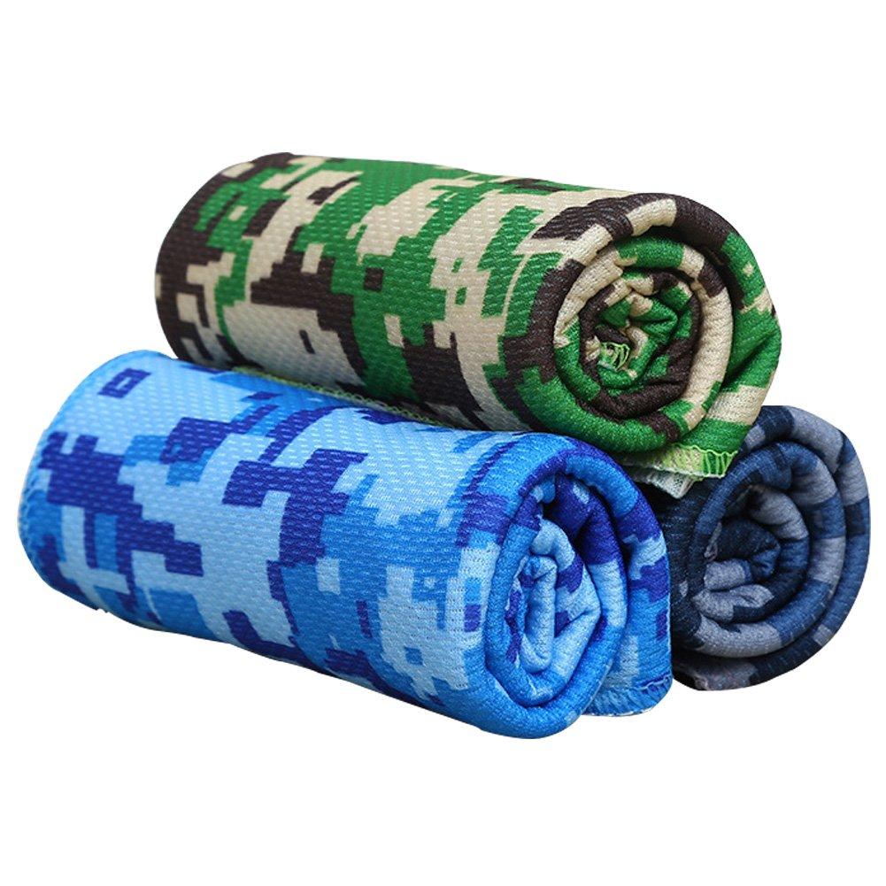 iBaste-bao Asciugamano portatile per il fitness di Yoga Sport allaria aperta di Ptinted Camouflage Quick Dry