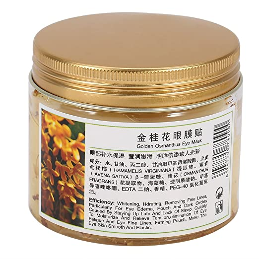 Amazon.com : Gold Osmanthus Eye Mask, 160pcs/2 Bottle Women Collagen Gel Anti-Wrinkle Nourishing Moisturizing Eyelid Patch : Beauty