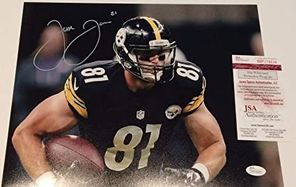 d1880973c1b Image Unavailable. Image not available for. Color: Jesse James Autographed  Signed Pittsburgh Steelers 11x14 Photo - JSA Authentic