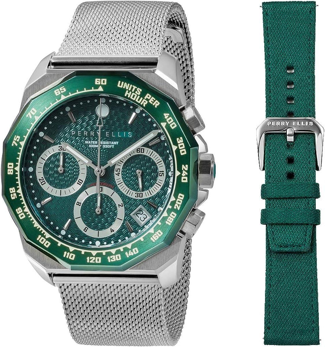 Perry Ellis 09011-04#LS101 - Reloj analógico de Cuarzo para Hombre ...