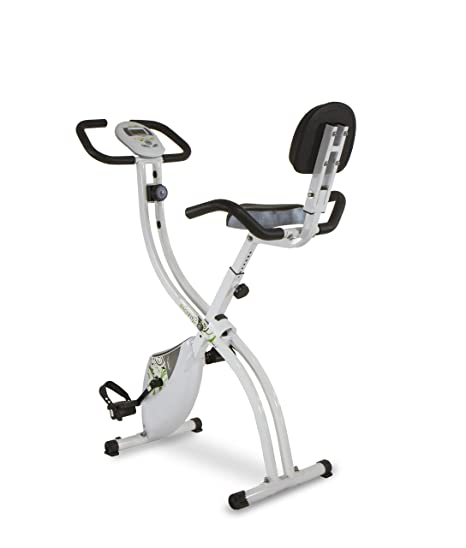 Tecnovita by BH Back Fit - Bicicleta estática plegable, Unisex adulto, color Blanco / Verde, talla Única