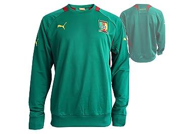 Puma Camerún Sudadera Verde Mundial de Fútbol Fan Artículo Cameroon trainingtop Fútbol Jersey, Talla XL: Amazon.es: Deportes y aire libre