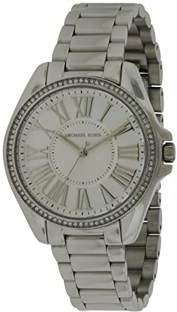 6f9abc53884b Image Unavailable. Image not available for. Color  Michael Kors Kacie  Silver Dial Stainless Steel ...