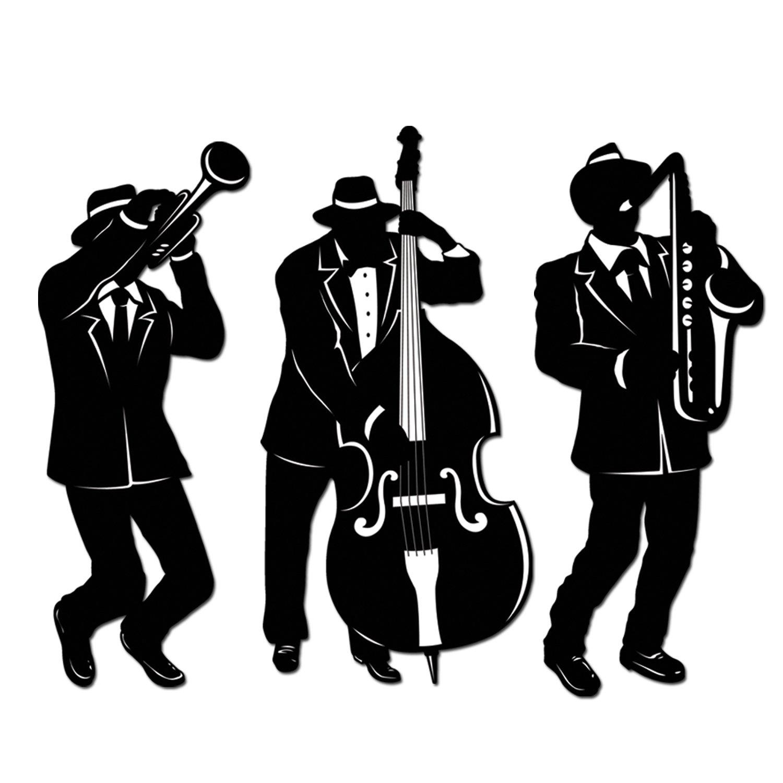 amazon com jazz trio silhouettes 3 pkg party decorations