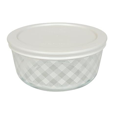 Amazon.com: Pyrex - Cuenco de cristal con 4 tazas y tapa de ...
