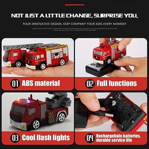 YRE 1:58 Mini Juguetes de los niños del Motor de Bomberos del ...