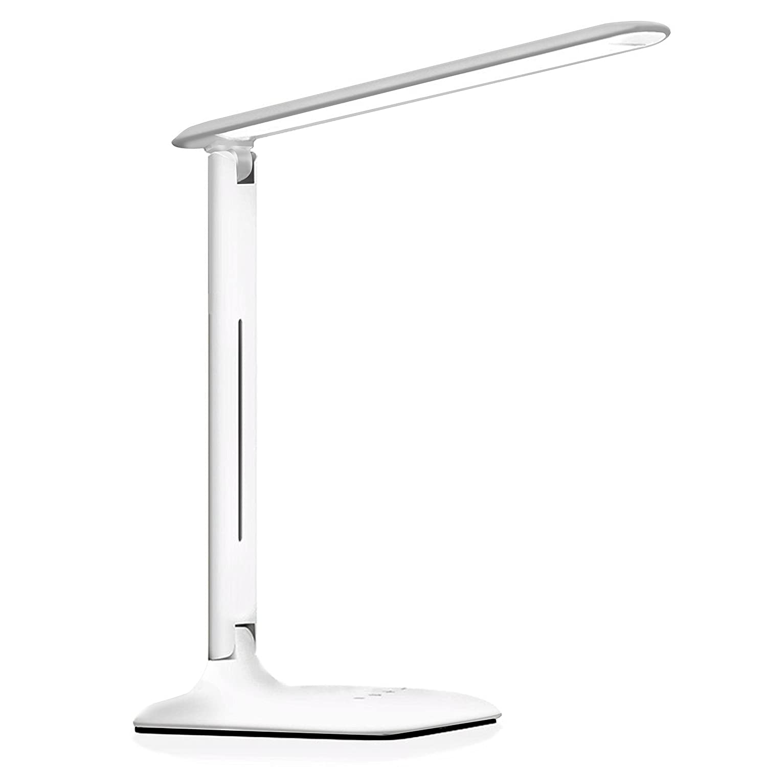 Dohomai LED Desk Lamp, Foldable Touch Dimmable Table Lamp, 3 Lighting Mode and 5 Brightness Levels, with 14 LED and Anti-slip mat, Eye Protection, Energy-efficient, for Work, Study, Office, Bedroom, Reading (white) [Energy Class A++]