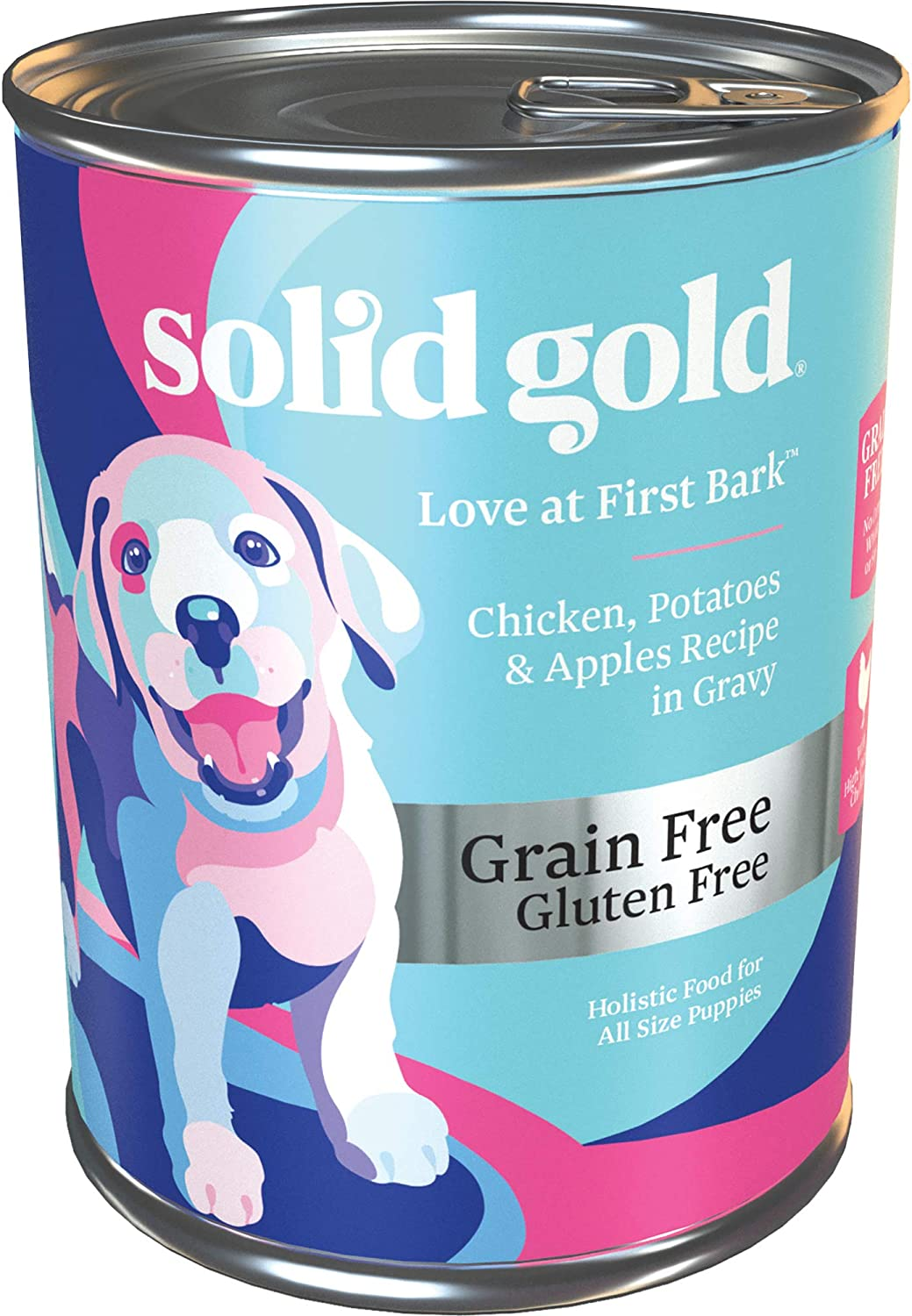 Solid Gold - Love at First Bark with Chicken - Grain Free Wet Puppy Food - 13.2-oz Can (6Count)