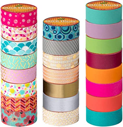 Duck Brand Rainbow Crafting Decorating Tape Scrapbook Arts Crafts Set of 2 New