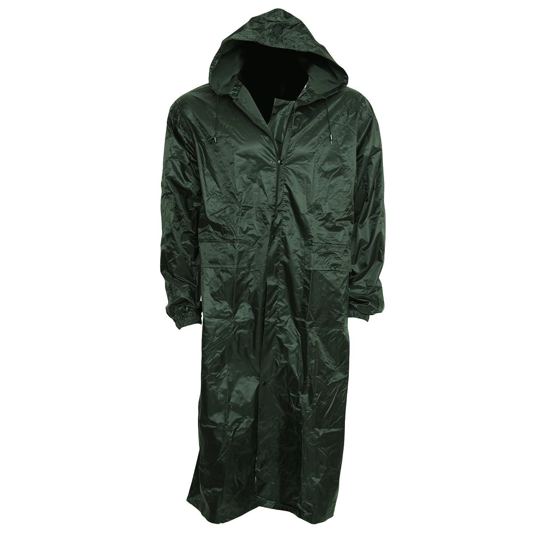 Universal Textiles Mens Waterproof Hooded Lightweight Long Outdoor Rain Coat