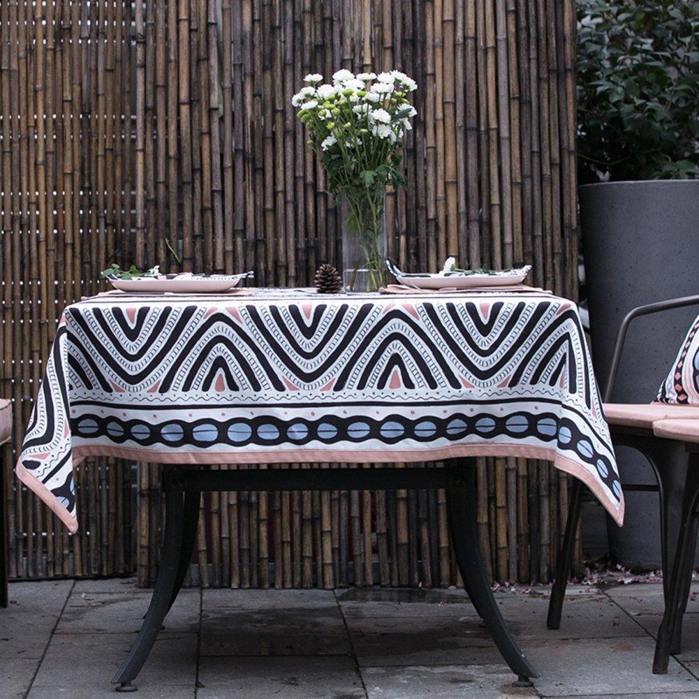 The style of simple modern cloth Tea table cloth 100?cotton table cloth Round table cloth Table runner-A 140x180cm(55x71inch)