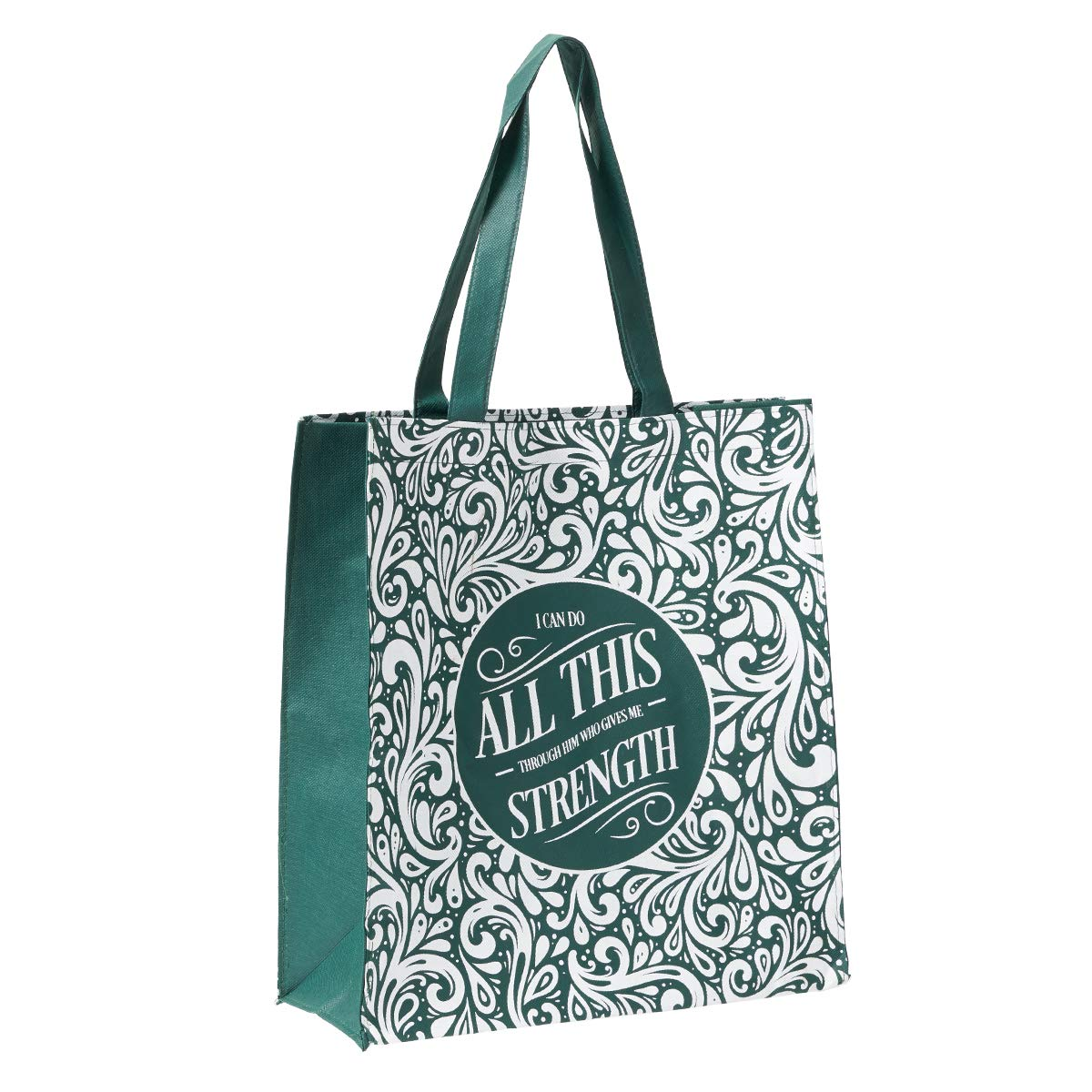 Psalm 46:10 Be Still and Know Reusable Shopping Bag in Navy