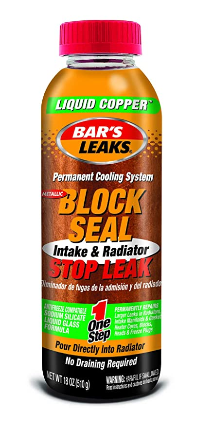 Bar's Leaks 1109 Block Seal Liquid Copper Intake and Radiator Stop Leak -  18 oz