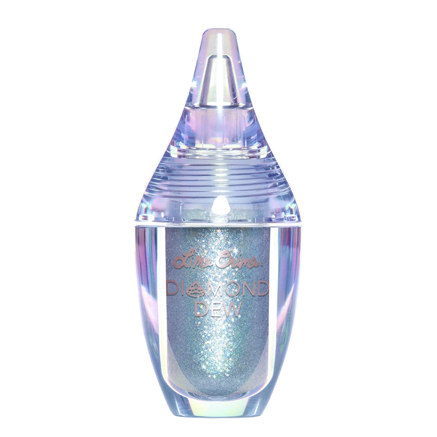 Lime Crime Diamond Dew Glitter Eyeshadow, Tearful - Aqua Iridescent Lid Topper - Reflective Sparkle Shadow for Lids, Cheeks & Body - Won't Smudge or Crease - Vegan - 0.14 fl oz