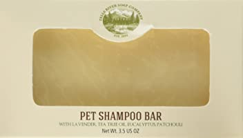 Falls River Soap Company Flea and Tick Prevention for Dogs and Cats - Pet Shampoo Bar (3.5Oz)-Natural Handmade Organic Vegan- Cat and Dog flea and tick Control