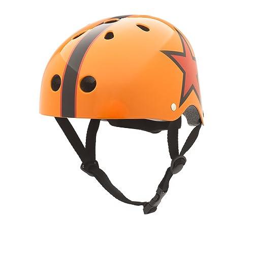 Casque pour enfant orange/motif étoile coConuts medium