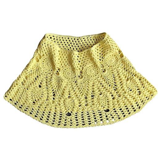 Cansenty falda de bikini de encaje hecha a mano para mujer, color ...
