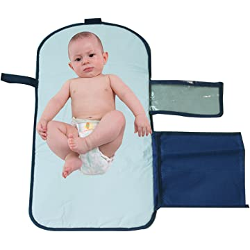 """Baby Changing Pad, Waterproof & Portable Diaper Changing Station Cultch Kit with Pockets for Newborn Toddler Infant, 24"""" x 13.7"""""""