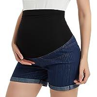 c9a0afb9df GINKANA Maternity Denim Shorts Cotton Lounge Over Bump Pregnancy Shorts  Summer Linen Pants