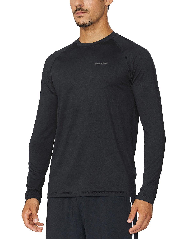 a6ad54d422fa Amazon.com  Baleaf Men s Cool Running Workout Long Sleeve T-Shirt  Sports    Outdoors