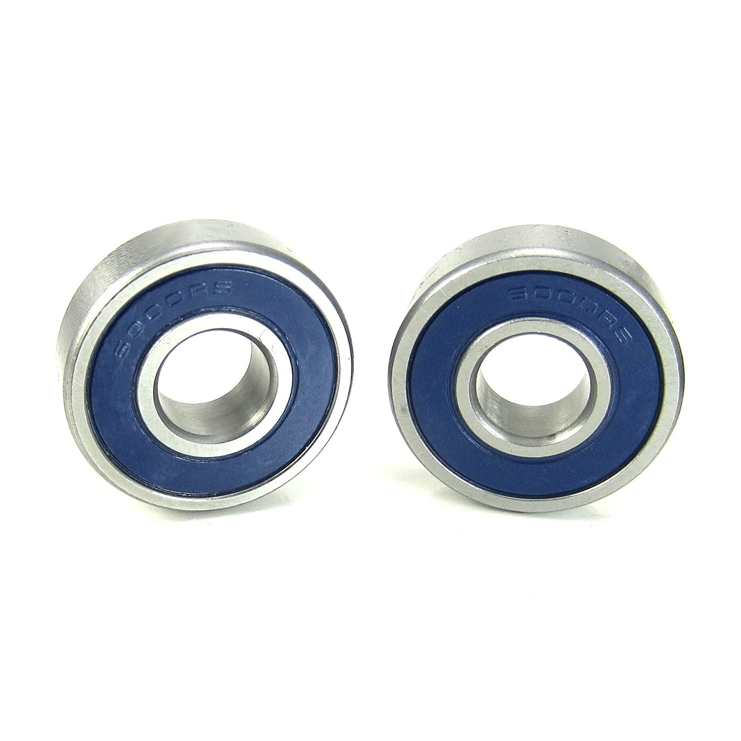 10x26x8mm Precision Ball Bearings ABEC 3 Blue Rubber Seals (2) TRB RC