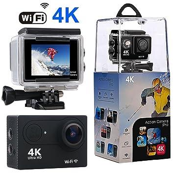 Action Camera, Wewdigi WiFi Sport Camera Ultra 4K HD Waterpr...
