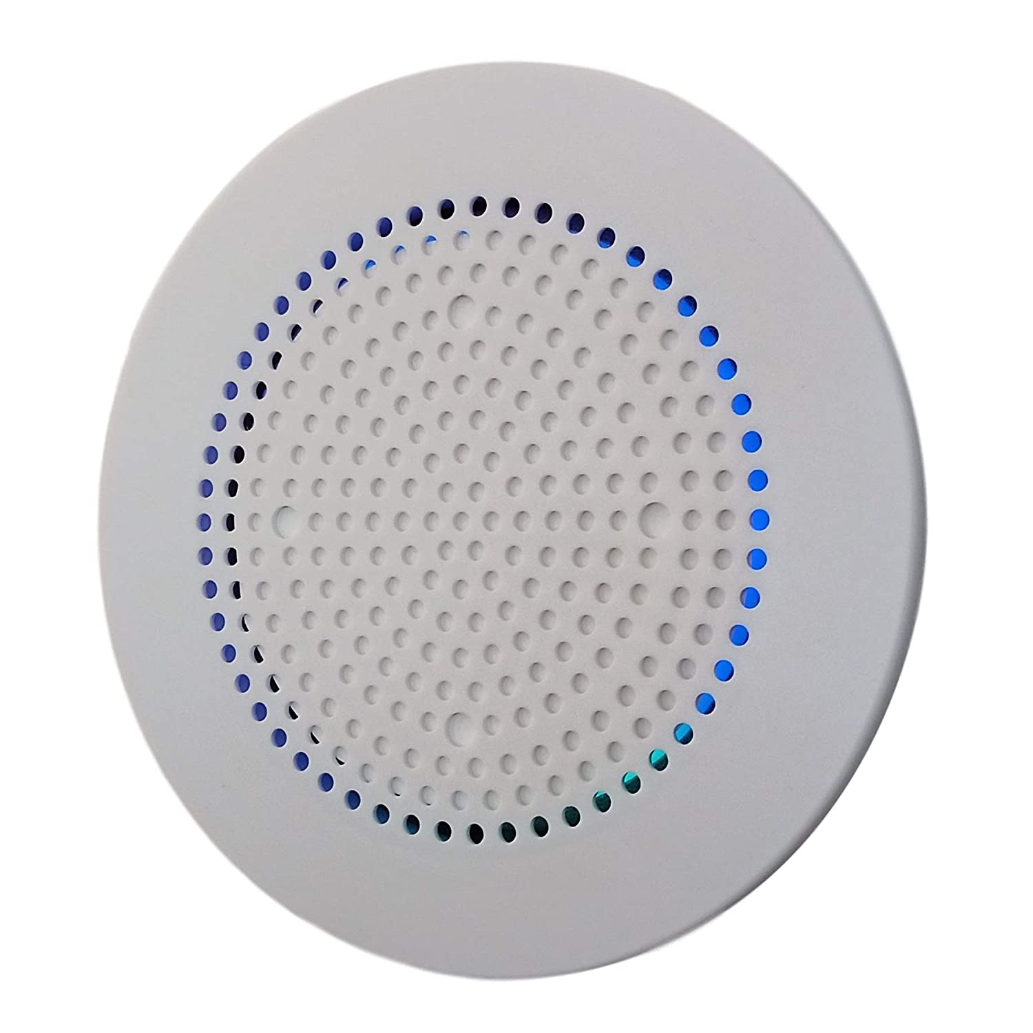 Mount Genie Flush Mount 3 | Built-in Wall or Ceiling Mount for Voice Assistants Bluetooth Speakers [Newest 2019 Model] | Includes Optional Grill. Award Winning Design. Fantastic Sound (White, 1-Pack)