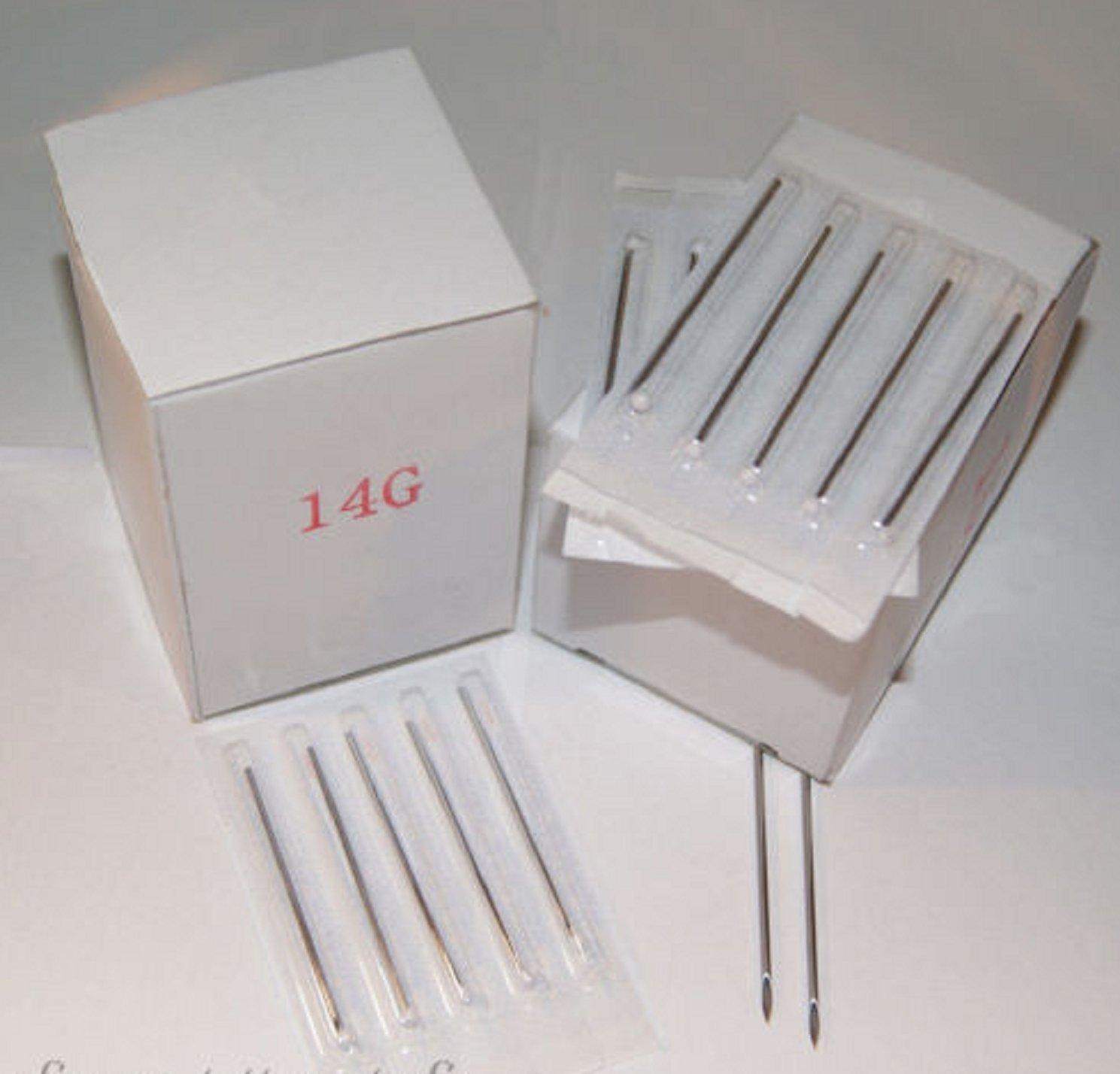 TNS STORE 1000 Body Piercing Needles 10g 12G 13G 14G 15G 16G 18G 20g uMix Gauge