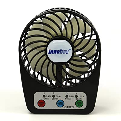Innobay® Mini Handy Portable Rechargeable Fan Operated by Built-in Lithium Battery