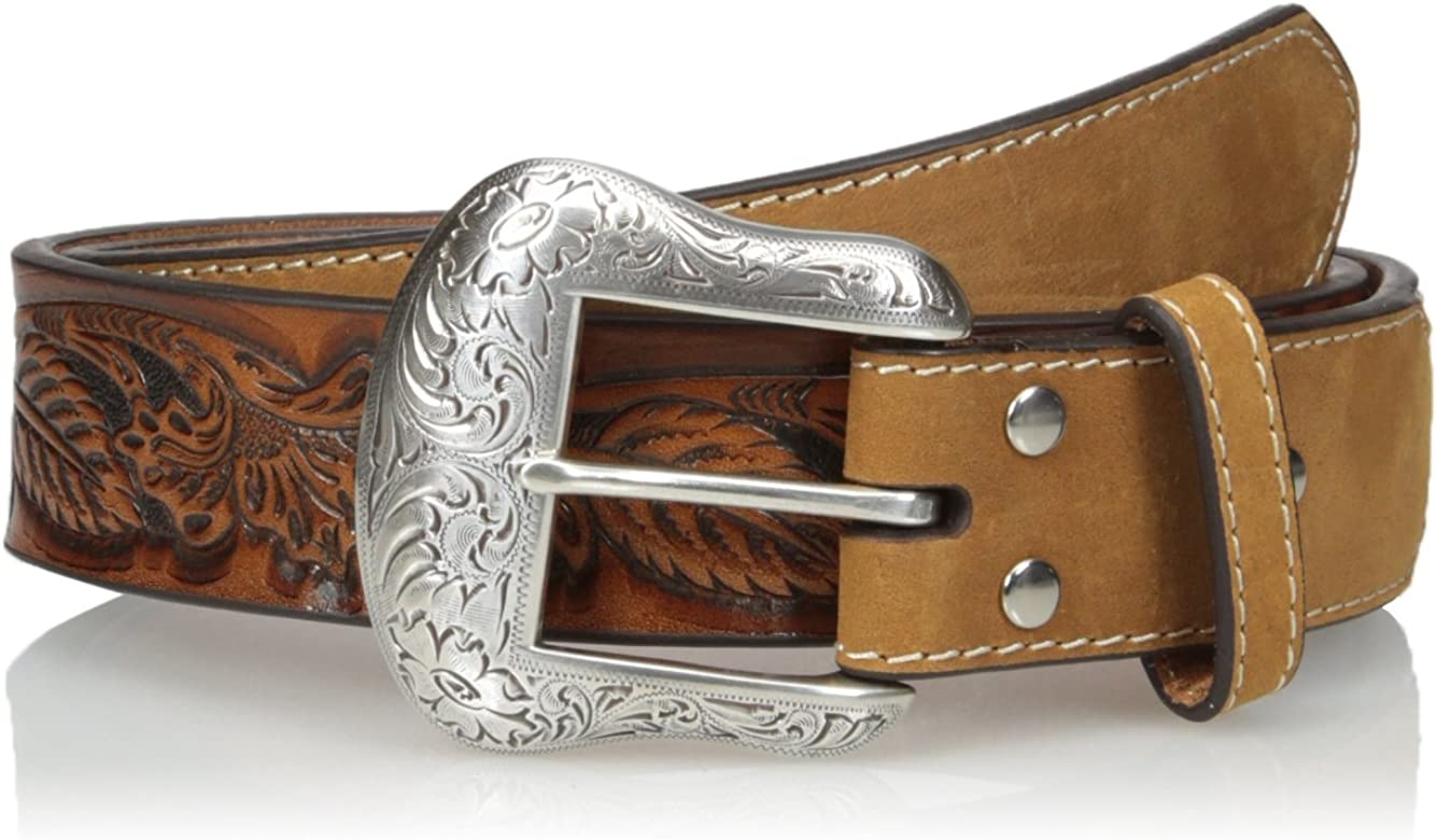 Nocona Belt Co. Men's Nocona Edgeless Oak Belt: Amazon.co.uk