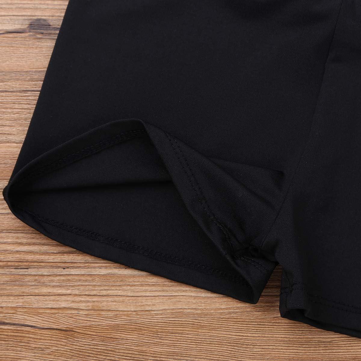 YiZYiF Pantaloncini Sportivi per Bambine e Ragazza Pantaloni Corti Molto Strech Culotte Shorts Hot Pants da Bimba Boxer Briefs Boxershorts a Vita Alta Intimo Fitness Sport