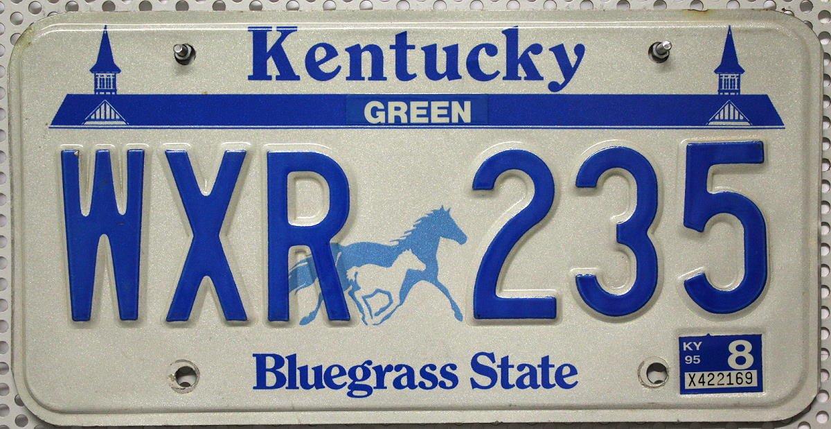 USA Nummernschild KENTUCKY ~ US Kennzeichen LICENSE PLATE ~ Bluegrass State Motiv Pferde