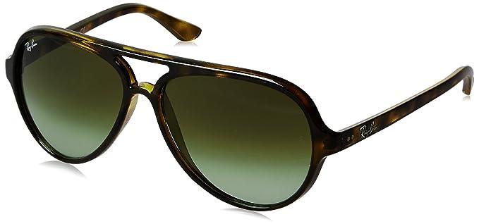 a4cd7726fb Amazon.com  Ray-Ban Men s Cats 5000 Aviator Sunglasses BLACK 59 mm  Clothing