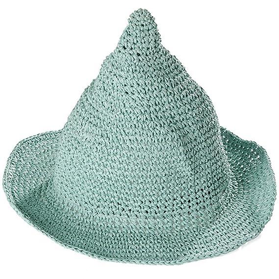 Leisial Sombrero Gorra Paja de la playa Gorro de Viaje Protector Solar  Sombrero de Sol Respirable 55ef4b3d8eb