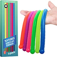 Sensory Toys - Calming Stretchy Stress and Anxiety Relief for Homeschool & Office (6 Pack Textured)