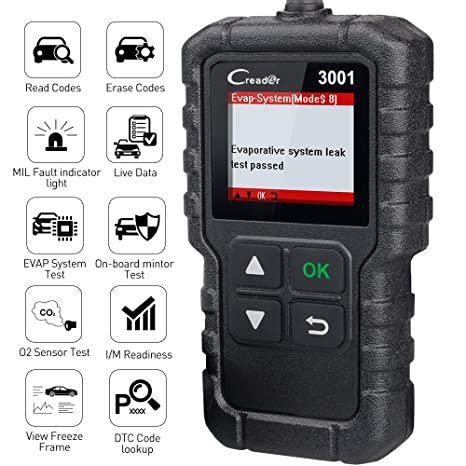 LAUNCH CReader 3001 OBD2 Scanner OBD II EOBD Car Fault Code Reader  Professional Automotive Diagnostic Tool,DTCs Check Engine Light Scan  Tool,Support