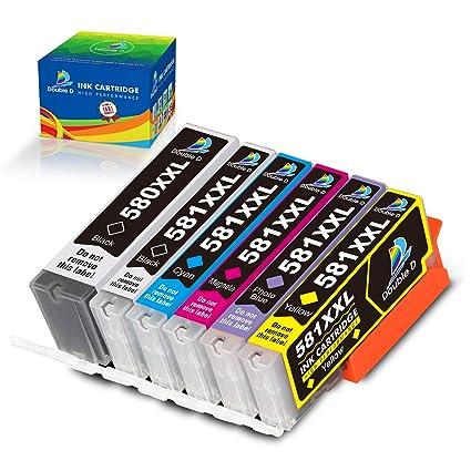 Double D PGI-580 CLI-581 - Cartucho de Tinta Compatible con Canon ...