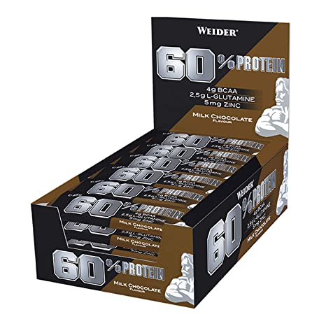 Weider 60% Protein Bar Chocolate con leche 24 x 45 gr. La ...
