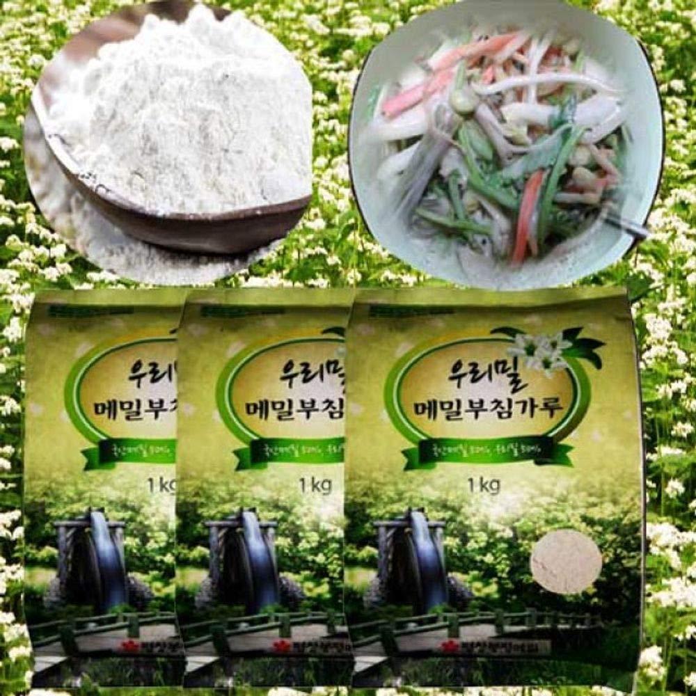 Buckwheat Wheat Flour (50% Korean Buckwheat 50 Korean Wheat) 1kg by Bongpyeongwon