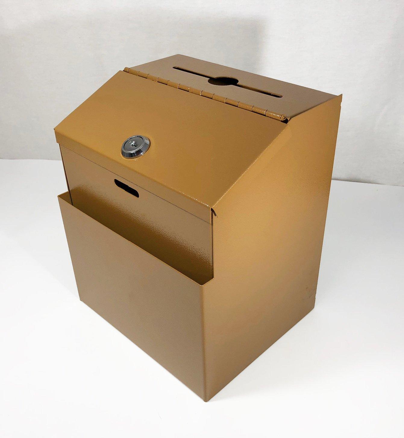 FixtureDisplays Copper Box, Metal Donation Suggestion Key Drop 7'' x 8.4'' x 5.5'' Express Checkout Comments Sales Lead box11118-COPPER