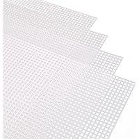 25Pcs Clear Plastic Canvas Sheets in 5 Formen Hileyu 72 St/ück Kunststoff Mesh Canvas Sheet Kit Plastik-Canvas-Kits f/ür Stickereien 12 farbige Acrylgarn- und Stickwerkzeuge